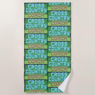 Cross Country Coach Beach Towel