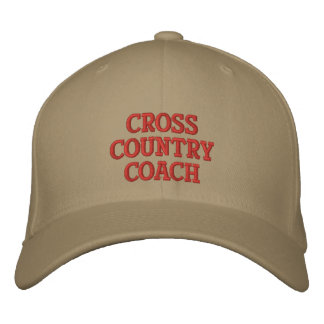 CROSS COUNTRY COACH CUSTOMIZABLE EMBROIDERY CAP EMBROIDERED BASEBALL CAPS