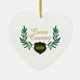 CROSS COUNTRY CREST CHRISTMAS ORNAMENT