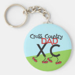Cross Country Dad - Cross Country Runner Dad Basic Round Button Key Ring