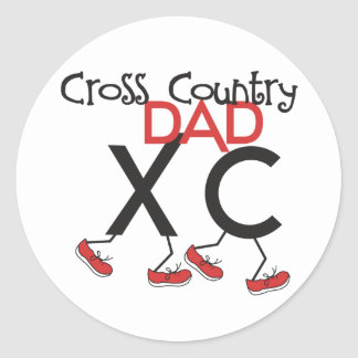 Cross Country Dad - Cross Country Runner Dad Round Sticker