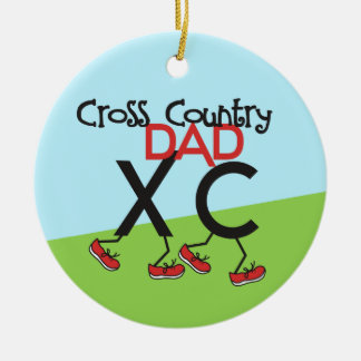Cross Country Dad - front and back Christmas Ornament