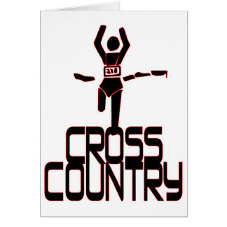 CROSS COUNTRY FINISH LINE RUNNER GREETING CARD