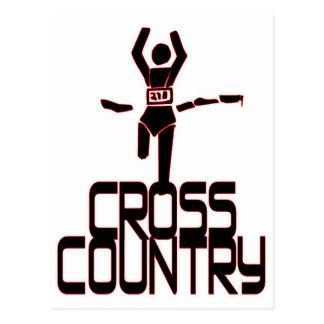 CROSS COUNTRY FINISH LINE RUNNER POSTCARD