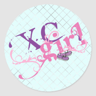 Cross Country Girl Classic Round Sticker