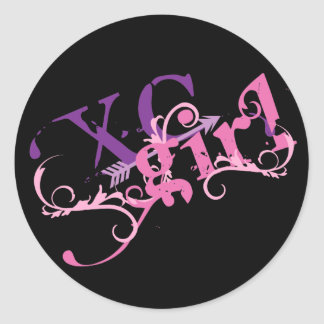Cross Country Girl Round Sticker