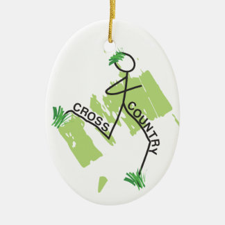 Cross Country Grass Runner Ceramic Oval Decoration