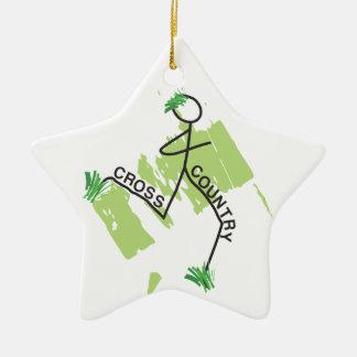 Cross Country Grass Runner Ceramic Star Decoration