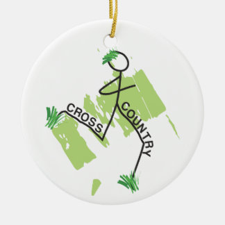 Cross Country Grass Runner Round Ceramic Decoration