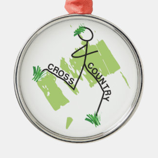 Cross Country Grass Runner Silver-Colored Round Decoration
