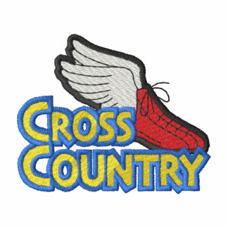 Cross Country Logo Embroidered Hooded Sweatshirt