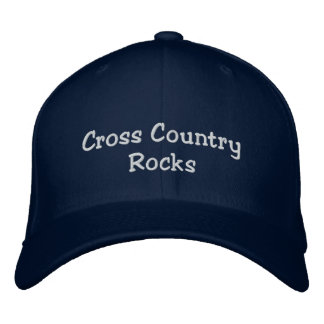 Cross Country Rocks runners hat Embroidered Hats