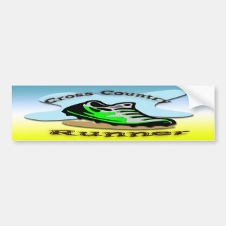 Cross-Country Runner Bumper Sticker