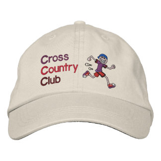 Cross Country Runner Embroidered Baseball Caps
