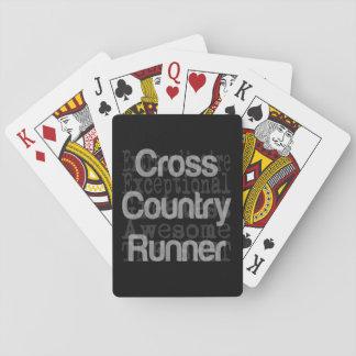 Cross Country Runner Extraordinaire Poker Deck