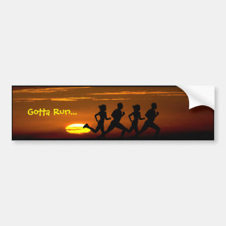 Cross Country Runner -  Gotta Run... (Sunset) Bumper Sticker