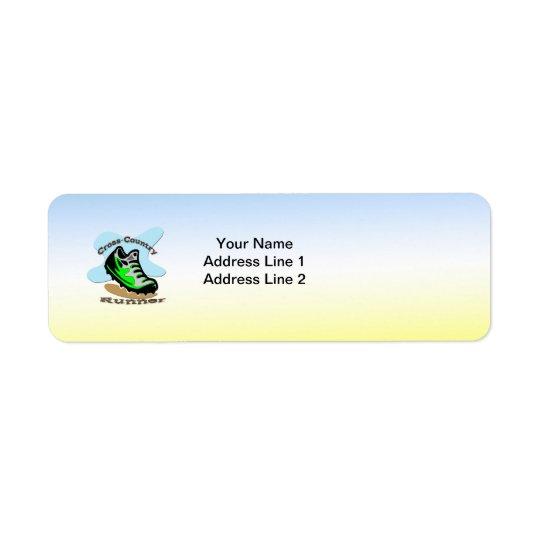 Cross-Country Runner Return Address Label