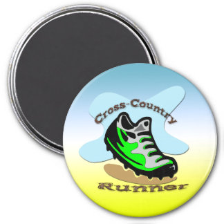 Cross-Country Runner Round Magnet