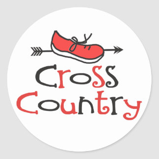 Cross Country Runner Sticker