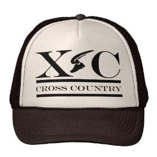 Cross Country Running Black Design Hat