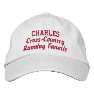 Cross Country Running Fanatic Custom Name Embroidered Hat