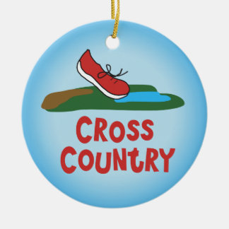 Cross Country Running - front and back Christmas Ornament