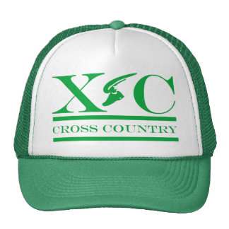 Cross Country Running Green Design Hat