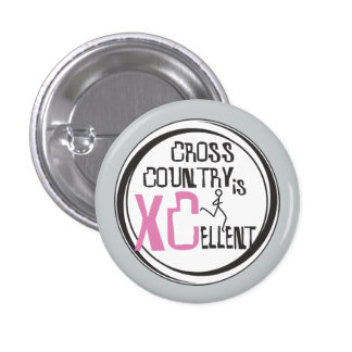 Cross Country Running is XCellent Pink 3 Cm Round Badge