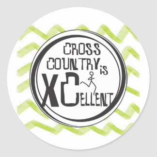 Cross Country Running is XCellent Round Sticker