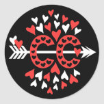 Cross Country Running Love Classic Round Sticker