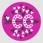 Cross Country Running Love Round Sticker