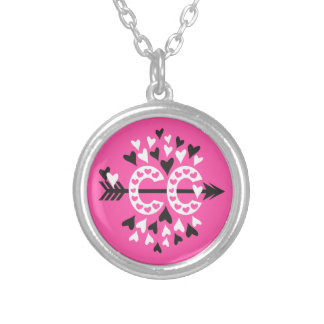 Cross Country Running Love Silver Plated Necklace
