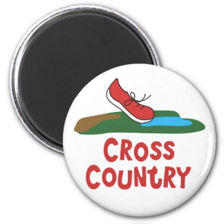 Cross Country Running Magnet