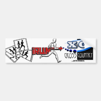 CROSS COUNTRY RUNNING MOTTO - GO THE DISTANCE XC BUMPER STICKER