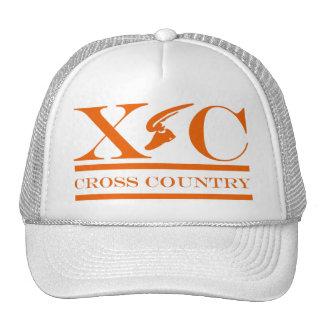 Cross Country Running Orange Design Hat