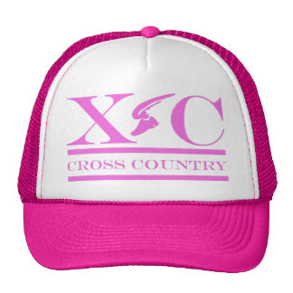 Cross Country Running Pink Design Hat