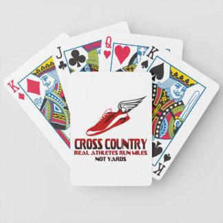 Cross Country Running Poker Deck