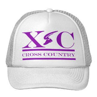 Cross Country Running Purple Design Hat
