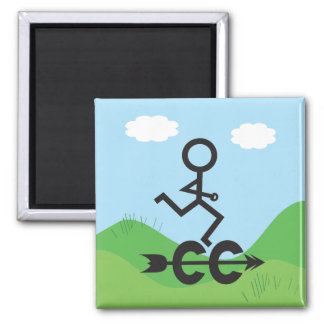 Cross Country Running Refrigerator Magnet