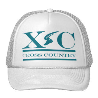 Cross Country Running Teal Design Hat