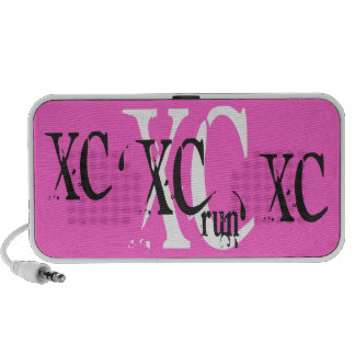 Cross Country Running XC PINK iPod Speakers