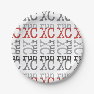 Cross Country Running - XC Run Paper Plate 7 Inch Paper Plate