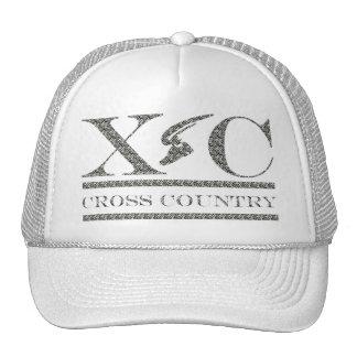 Cross Country Running Zebra Print Design Hat