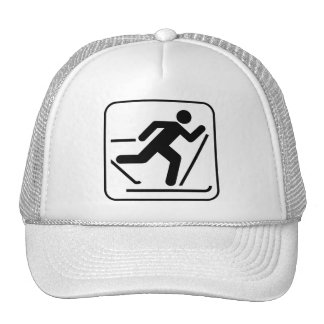 Cross Country Ski Symbol Hat