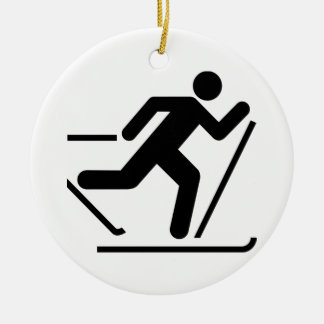 Cross Country Ski Symbol Ornament
