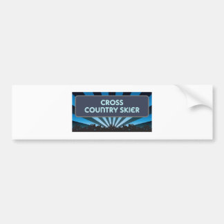 Cross Country Skier Marquee Bumper Stickers