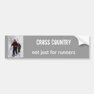 Cross Country Skiers Bumper Sticker