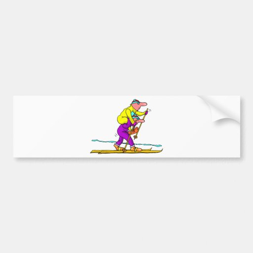 Cross country skiing bumper stickers