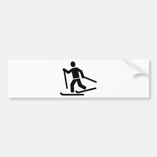Cross-country skiing bumper stickers