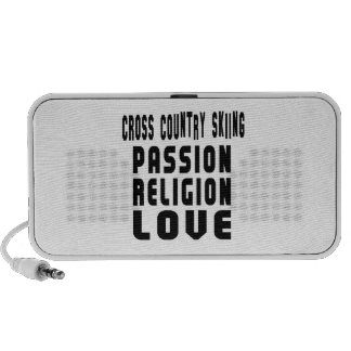 Cross Country Skiing Designs Portable Speaker